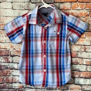 Tommy Hilfiger shirt for boys size 4T Red and Blue